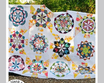 Celestial Star Collection #222 - 12in Paper Pieced Quilt Pattern PDF