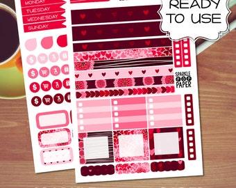 Valentine's Weekly Layout Stickers for MAMBI Happy Planner MINI