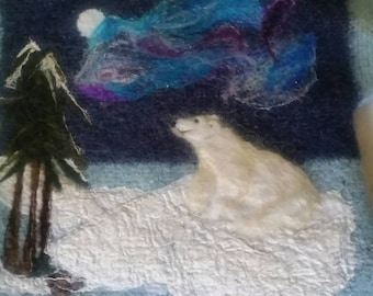 Aroura, Celestial, felted jacket. crochet , needle felt