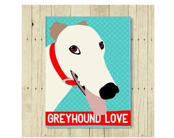Greyhound Magnet, Greyhound Gift, Dog Lover Gift, Greyhound Art, Small Gift Magnet, Fridge Magnet, Refrigerator Magnet, Greyhound Lover