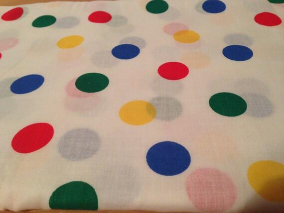 White Polka Dot Cotton Linen Fabric F31