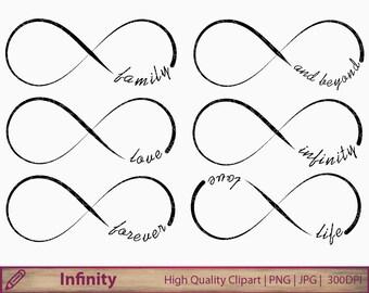 Infinity clipart, love clip art, wedding invitation, tattoo design, family, scrapbooking, digital instant download, jpg png 300dpi