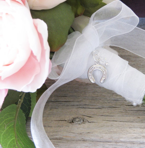 Brides Lucky Horseshoe Bouquet Charm, For the Bride, Brides Gift, Irish Wedding