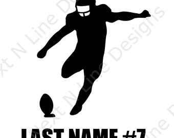 Customized, Football, Sport, Team, Kicker, America, Window Sticker, Car Decal, Vehicle Decal, Car Window Decal, Home Decor, Vinyl Decal