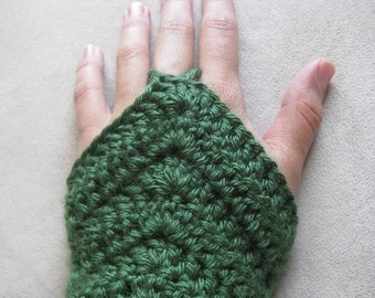 Crochet Pattern - Chevron Armwarmer Fingerless Gloves