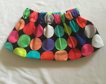 """Handmade Baby Girls Skirt """"Dots"""" Sizes 00 to 3T"""