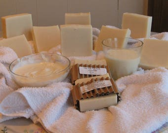 Homemade Cow Milk Lavender - Rosemary Soap