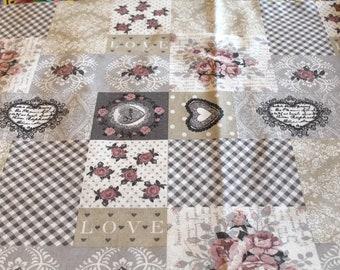 Coated fabric 50 x 65 cm romantic