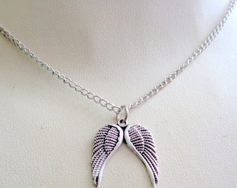 Angel Wings Necklace,  Wings necklace, Kylie Jenner Necklace, Celebrity Necklace SALE
