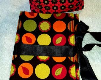 Clutch Cosmetic Bag Brush Roll Makeup Case handmade Trilfold