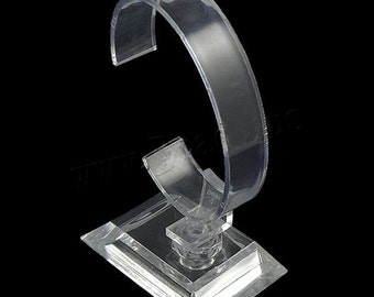 1 pc Transparent Clear Oval Shape Plastic Bracelet Display-9401