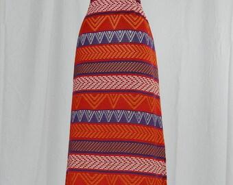 1970's Azteca // Knit Maxi Skirt