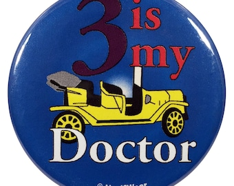 Who 2.25 Inch Third Doctor Button 3 Is My Doctor