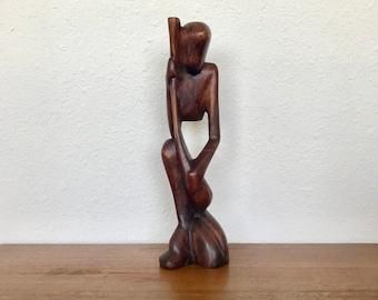 Vintage Hand Carved Wood Sculpture