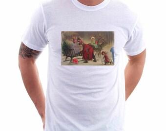 Christmas Beer Angels Tee, Unisex Tee, Beer Tee, Beer T-Shirt, Beer Lovers Tee, Beer Thinkers, Beer Art, Altered Art, Vintage Christmas