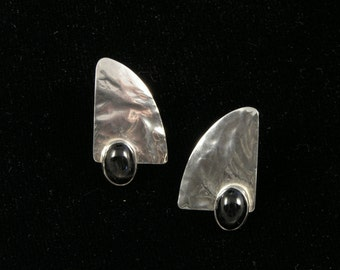 Silver and Star Diopside Earrings