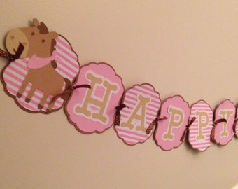 Horse birthday banner, pony party, horse decorations!