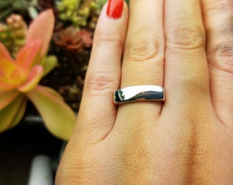 Singet ring || recycled sterling silver || size 6.5