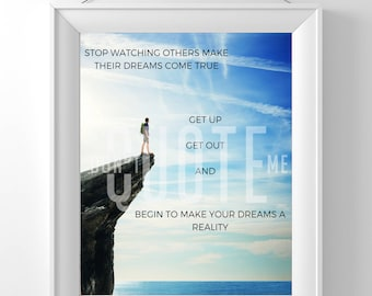 Get Up and Get out Printable Quote Wall Art