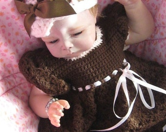Instant Download Sweet Baby Shells Dress - CROCHET PDF ePattern - Sizes 0-3m through 24m