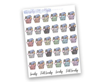 Laundry - Rainbow Collection | Planner Stickers for Erin Condren Vertical Life Planner