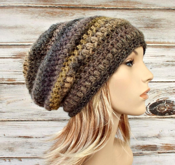 Instant Download Crochet Pattern - Womens Hat Pattern - Crochet Hat Pattern - Penelope Puff Stitch Beret and Slouchy Hat Pattern