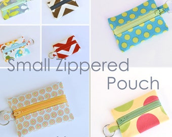 You Choose Small Zippered Pouch, Ear Bud Pouch, Business Card Holder, Flash Drive Keeper