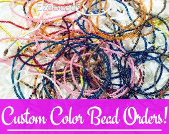 Assorted African Waist Beads - Belly Chain - Belly Beads - w/ Clasp [EzeBeads] --Message us with color selections--