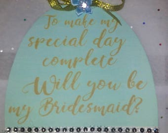 Wedding Will-You-Be-My-Bridesmaid-dress Invitation-