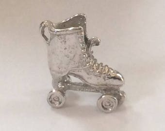Sterling silver Roller Skate charm vintage # S 797