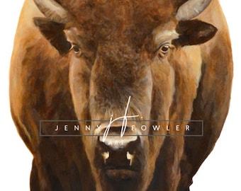 """8x10"""" - Buffalo - Colored"""