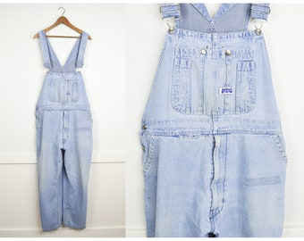 SALE! Distressed Vintage Overalls, Vintage Clothing, Oversized Carpenter Overalls, Baggy Jeans, Plus Size Jeans,