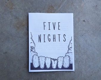 FIVE NIGHTS- a zine about nightmares