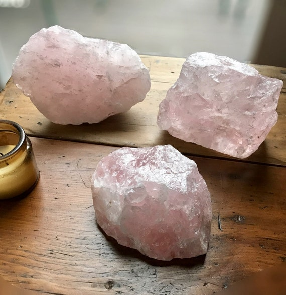 XL Rose Quartz Palm Stone, Raw Rose Quartz, Standing Rose Quartz, Rose Quartz Slab, Heart Chakra, Healing Crystal, Love Stone, Gifts for Her