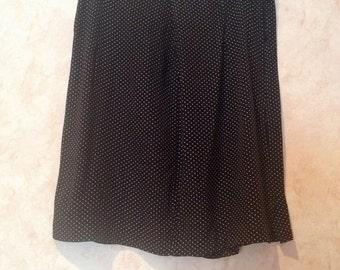 90s Polka Dot Pencil Skirt