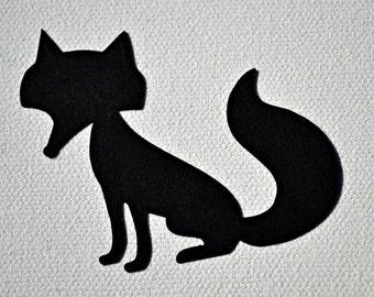 Fox Paper Die Cuts/Fox paper embellishment/Wilderness Animals/Fox Paper Cuts