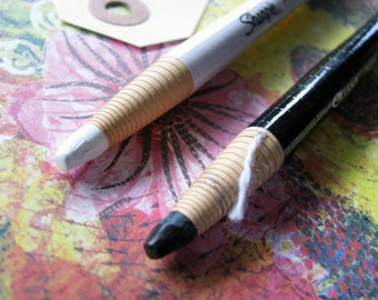 Sharpie WHITE or BLACK China Marker - Drawing, Mixed Media, Art Journaling