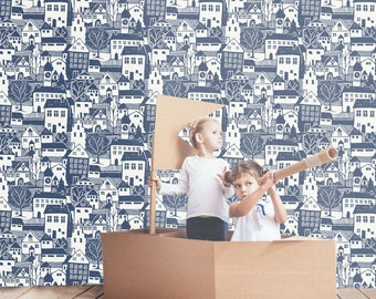 Good Neighbors Removable Wallpaper | Peel and Stick Wallpaper | Home Décor and Wall Décor | Interior Design | W1191