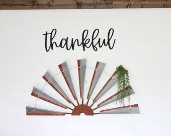 thankful Sign Gallery Wall Sign Farmhouse Gallery Wall thankful