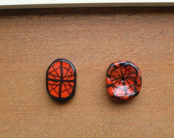 Red Spider Cabochon and Large Focal Bead Set