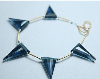 80% OFF SALE 5 Pieces Amazing London BT Triangle Facetade Briolette Beads