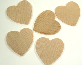 Set of 5 Wood Hearts, Unfinished Cutouts, DIY, Crafting Supply Valentines Day  (943-14)
