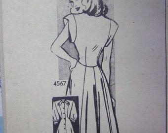 Vintage 1940s ANNE ADAMS  Mail Order 4567 pattern Jr sz 17 bust 35 COMPLETE