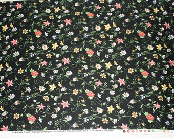 """Floral """"Toad-ally Yours"""" (black) Fabric Collection"""