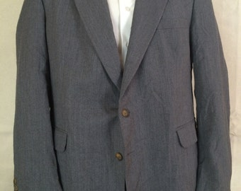 1990s Gray Blazer - Mens Grey Sport Coat from Christian Aujard size Large 46R