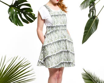 Handmade asparagus pinafore dress, asparagus dress, vegetable dress