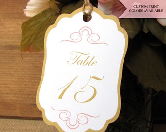 Table number tags - Table numbers wedding - Wedding table number tags - Rustic table numbers