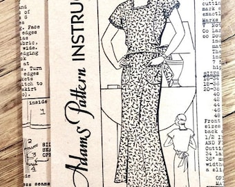 Spring Sale 1930s dress apron pattern Anne Adams 2487 Vintage Sewing Pattern  Bust 38 inches