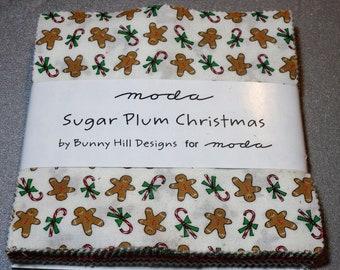 Sugar Plum Christmas, 5 X 5 Pre-Cuts, Moda Fabric, Holidays, Christmas, Quilting