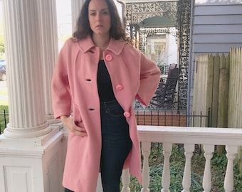 1960's pink coat from Miller and Rhodes
